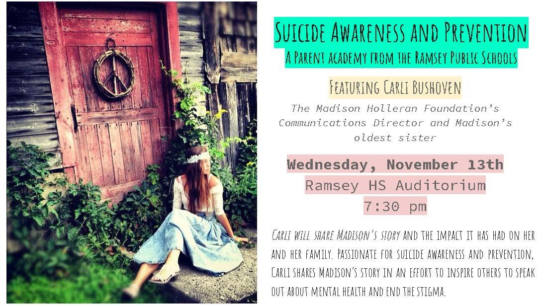 The Madison Holleran Foundation: Suicide Prevention Speaker