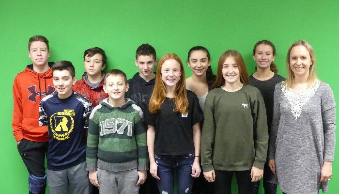 Seventh Grade Students Showcase Commercials at Ramsey Theatre